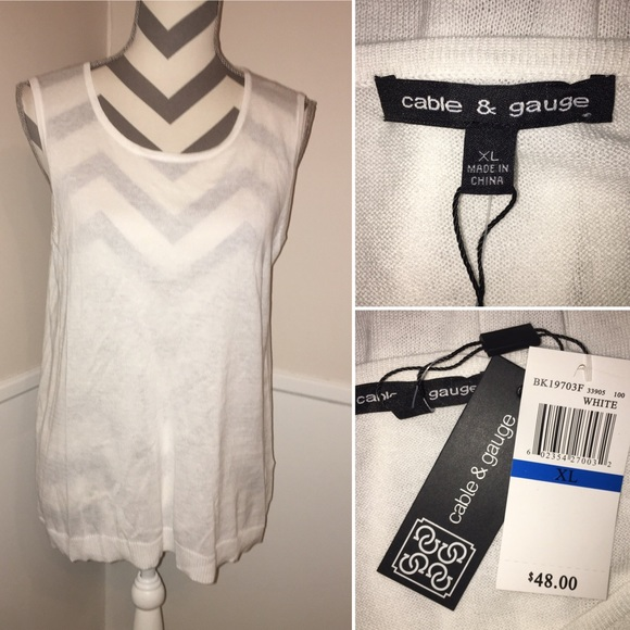 Cable & Gauge Tops - CABLE & GAUGE | NWT | sleeveless top